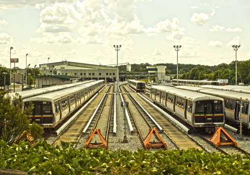 Nice view of the Marta train depot.