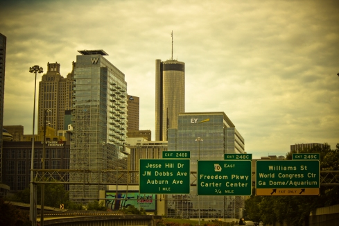 Partial Atlanta skyline.
