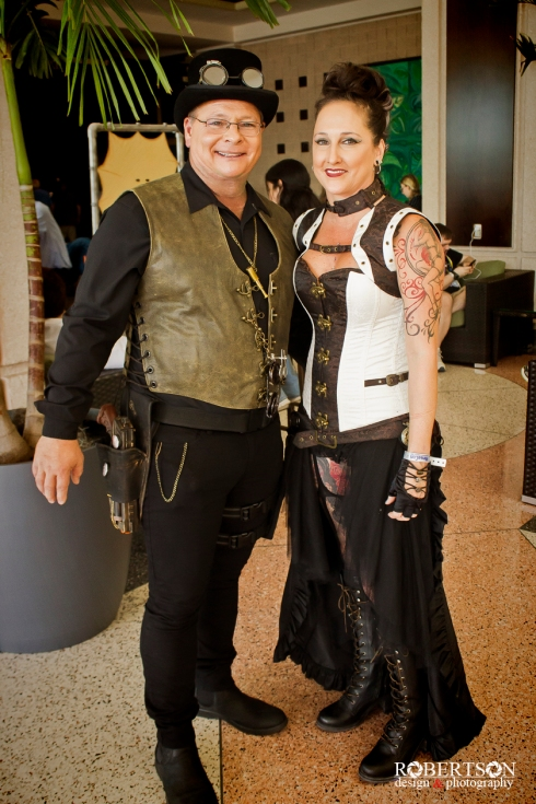 Steampunk cosplay by @poleandaerialfitness